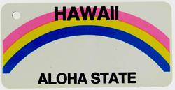 Custom Engraved Hawaii Key Tag Image