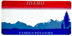 Custom Engraved Idaho Key Tag Image