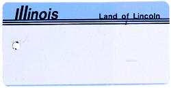 Custom Engraved Illinois Key Tag Image