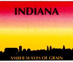 Custom Engraved Indiana Key Tag Image