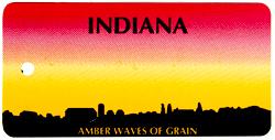 Custom Engraved Indiana Key Tag Image
