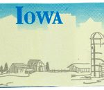 Custom Engraved Iowa Key Tag Image