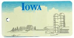 Custom Engraved Iowa Key Tag Image