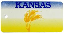 Custom Engraved Kansas Key Tag Image