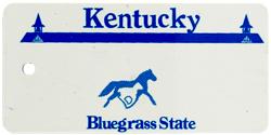 Custom Engraved Kentucky Key Tag Image