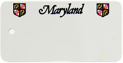Custom Engraved Maryland Key Tag Image