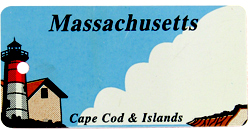 Custom Engraved Massachusetts Key Tag Image