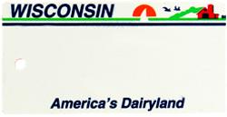 Custom Engraved Wisconsin Key Tag Image