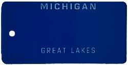 Custom Engraved Michigan Key Tag Image