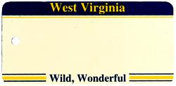Custom Engraved West Virginia Key Tag Image