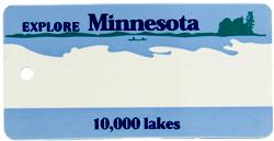 Custom Engraved Minnesota Key Tag Image
