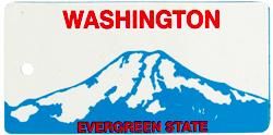 Custom Engraved Washington Key Tag Image