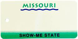 Custom Engraved Missouri Key Tag Image