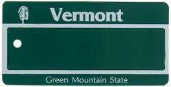 Custom Engraved Vermont Key Tag Image