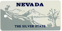 Custom Engraved Nevada Key Tag Image
