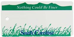 Custom Engraved South Carolina Key Tag Image