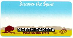 Custom Engraved North Dakota Key Tag Image