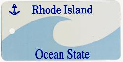 Custom Engraved Rhode Island Key Tag Image