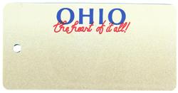 Custom Engraved Ohio Key Tag Image