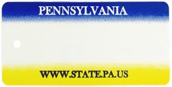 Custom Engraved Pennsylvania Key Tag Image