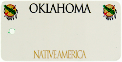 Custom Engraved Oklahoma Key Tag Image