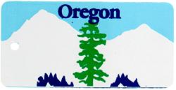 Custom Engraved Oregon Key Tag Image