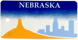 Custom Engraved Nebraska Key Tag Image
