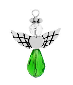 Pewter Peridot Crystal Angel Style 2 Image