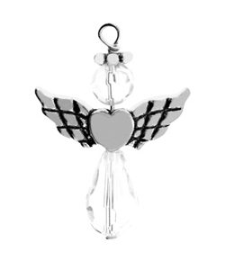 Pewter Crystal Angel Style 2 Image