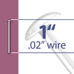 1 Head Pin 020 Wire Image