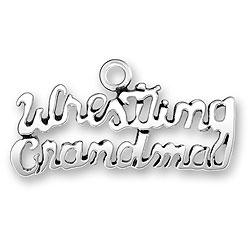 Wrestling Grandma Charm Image