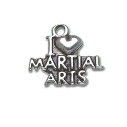 I Heart Martial Arts Charm Image