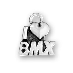 I Heart Bmx Charm Image