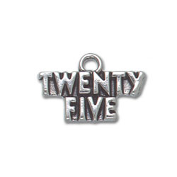 Sterling Silver Twenty Five Charm