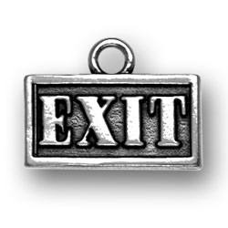 Exit Sign Charm Image