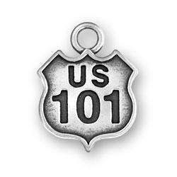 Us 101 Sign Charm Image
