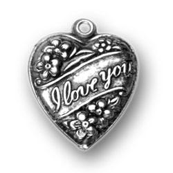 I Love You Puffed Heart Charm Image
