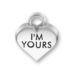 Im Yours Heart Charm Image