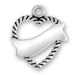 Heart With Engravable Ribbon Image