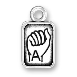 Sign Language Letter A Charm Image