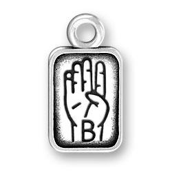 Sign Language Letter B Charm Image
