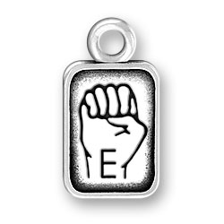 Sign Language Letter E Charm Image