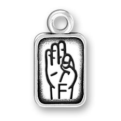 Sign Language Letter F Charm Image