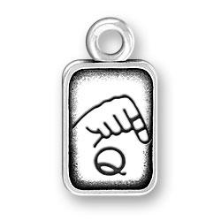 Sign Language Letter Q Charm Image