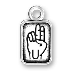 Sign Language Letter U Charm Image