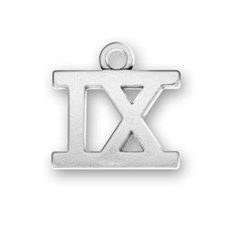 Roman Numeral Ix Charm Image
