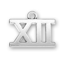 Roman Numeral Xii Charm Charm Factory Sterling Silver