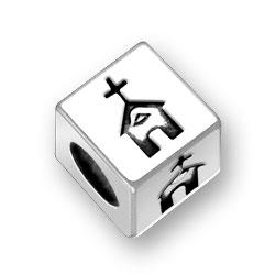 45mm Square Church Symbol Bead Image