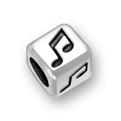 6mm Rounded Music Note Bead Image