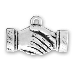 Shaking Hands Charm Image